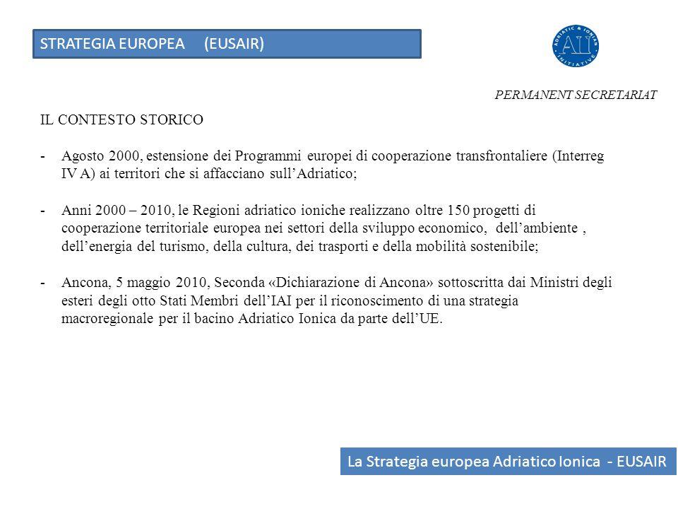 PERMANENT SECRETARIAT IL CONTESTO STORICO -Agosto 2000, estensione dei Programmi europei di cooperazione transfrontaliere (Interreg IV A) ai territori