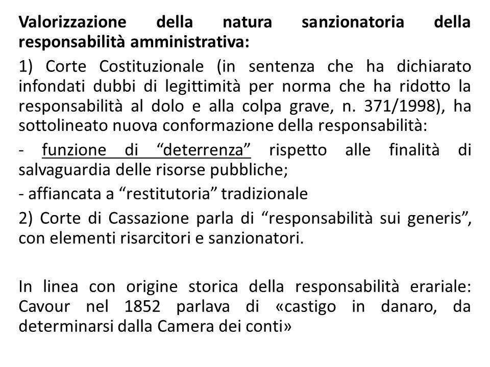 Valorizzazione della natura sanzionatoria della responsabilità amministrativa: 1) Corte Costituzionale (in sentenza che ha dichiarato infondati dubbi
