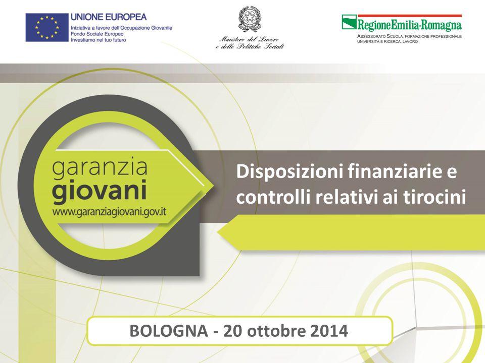 Disposizioni finanziarie e controlli relativi ai tirocini BOLOGNA - 20 ottobre 2014