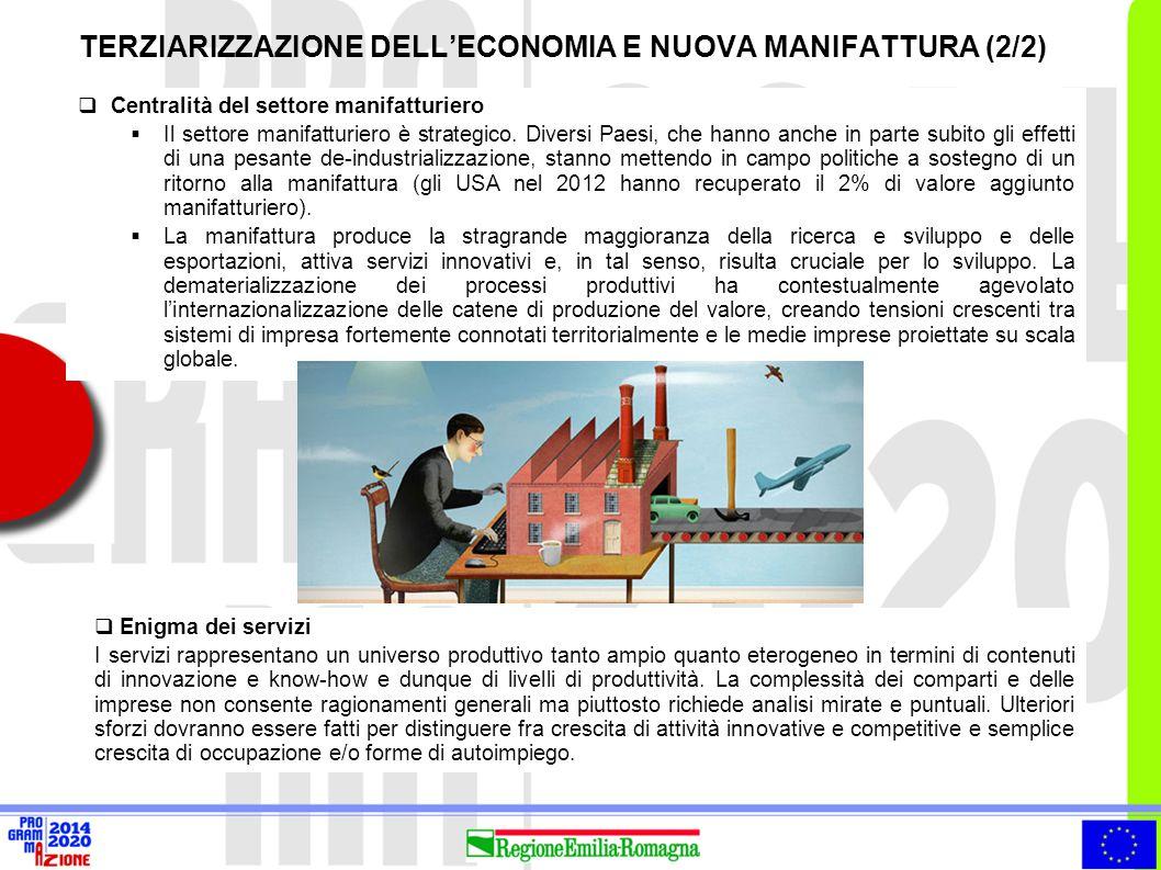  Centralità del settore manifatturiero  Il settore manifatturiero è strategico. Diversi Paesi, che hanno anche in parte subito gli effetti di una pe