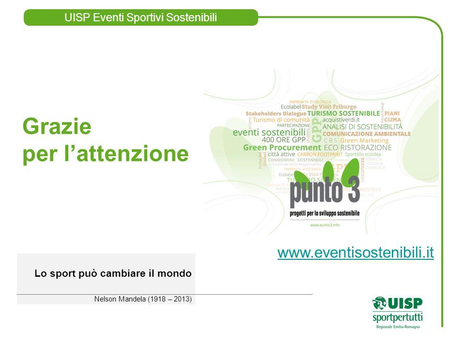 UISP Eventi Sportivi Sostenibili www.eventisostenibili.it www.eventisostenibili.it Mail cesare@punto3.infocesare@punto3.info Lo sport può cambiare il