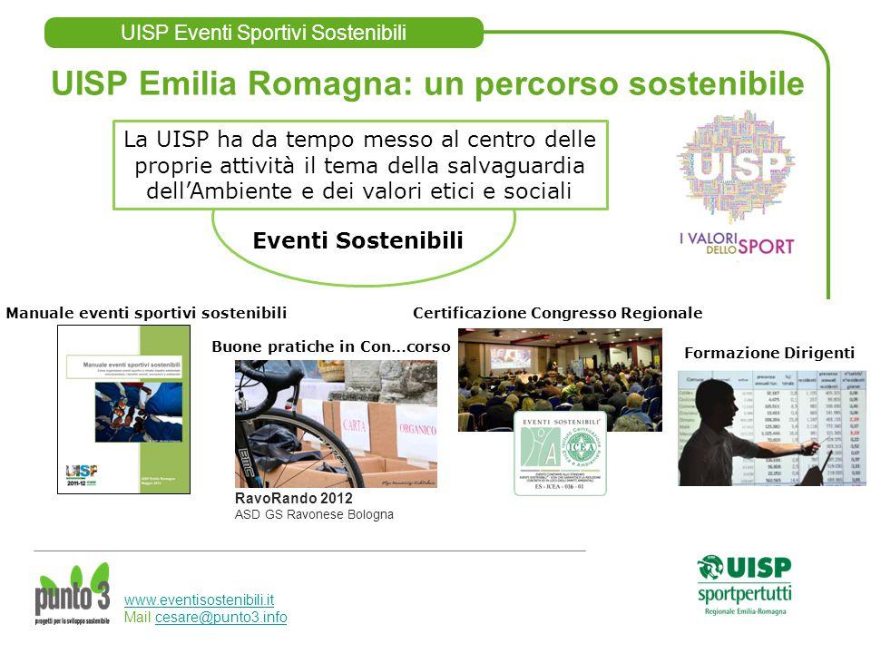 UISP Eventi Sportivi Sostenibili www.eventisostenibili.it www.eventisostenibili.it Mail cesare@punto3.infocesare@punto3.info La UISP ha da tempo messo