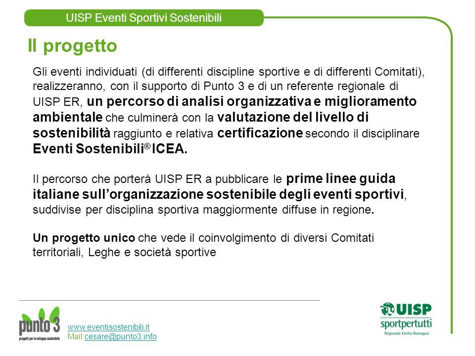 UISP Eventi Sportivi Sostenibili www.eventisostenibili.it www.eventisostenibili.it Mail cesare@punto3.infocesare@punto3.info Gli eventi individuati (d
