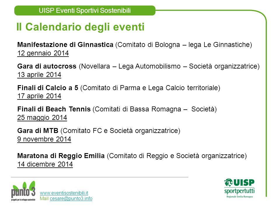 UISP Eventi Sportivi Sostenibili www.eventisostenibili.it www.eventisostenibili.it Mail cesare@punto3.infocesare@punto3.info Il Calendario degli event