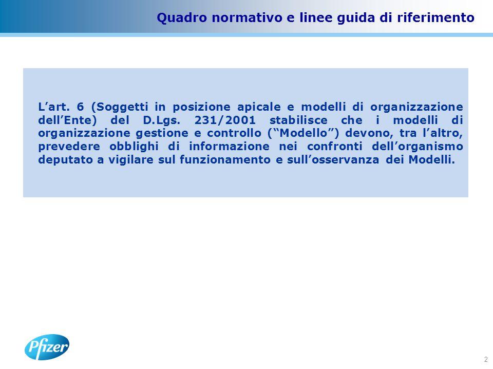 2 Quadro normativo e linee guida di riferimento L'art.