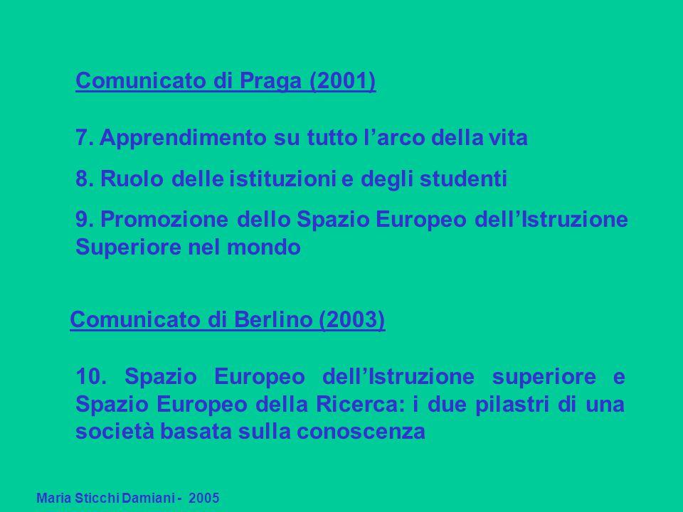 Maria Sticchi Damiani - 2005 Comunicato di Praga (2001) 7.