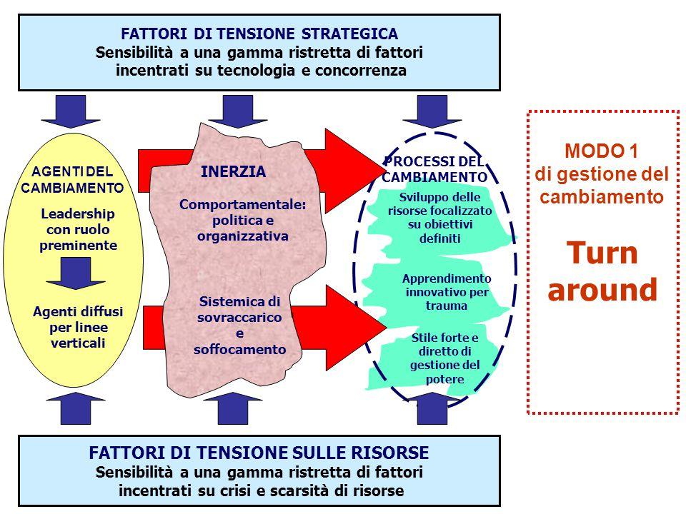 Apprendimento innovativo per trauma Sviluppo delle risorse focalizzato su obiettivi definiti PROCESSI DEL CAMBIAMENTO Stile forte e diretto di gestion