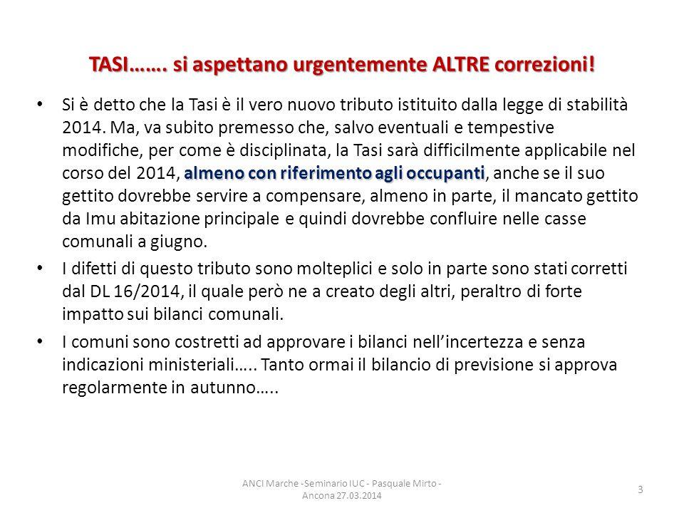 Aliquote dl 16/2014 detrazioni d imposta o altre misure, tali da generare effetti sul carico di imposta TASI equivalenti a quelli determinatisi con riferimento all IMU relativamente alla stessa tipologia di immobili L'art.