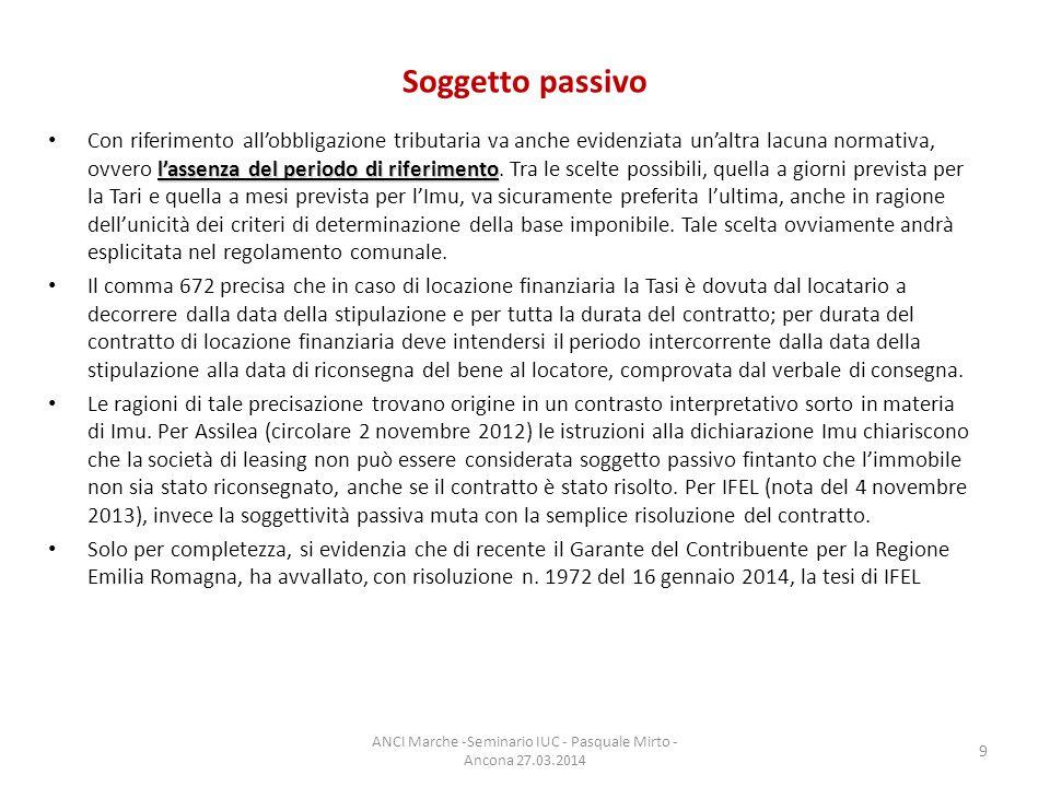 Riduzioni ed esenzioni Inizialmente, la disciplina TASI dettata dalla legge n.