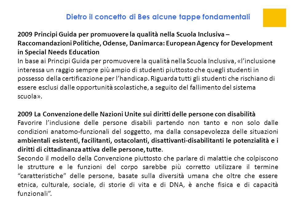 2009 Principi Guida per promuovere la qualità nella Scuola Inclusiva – Raccomandazioni Politiche, Odense, Danimarca: European Agency for Development i