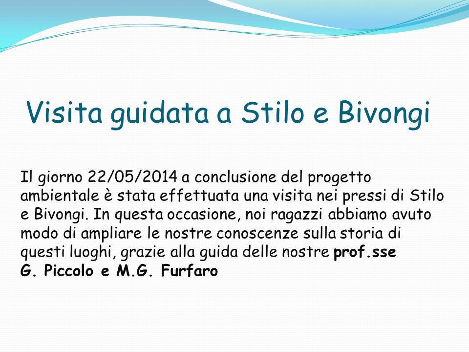 Visita guidata a Stilo e Bivongi Il giorno 22/05/2014 a conclusione del progetto ambientale è stata effettuata una visita nei pressi di Stilo e Bivongi.