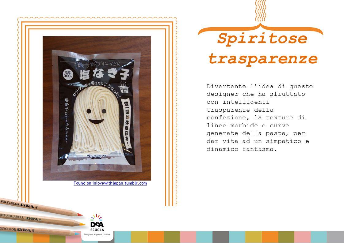 Spiritose trasparenze Divertente l'idea di questo designer che ha sfruttato con intelligenti trasparenze della confezione, la texture di linee morbide