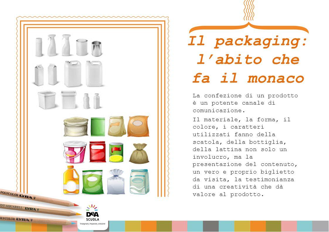 Il packaging: l'abito che fa il monaco La confezione di un prodotto è un potente canale di comunicazione. Il materiale, la forma, il colore, i caratte