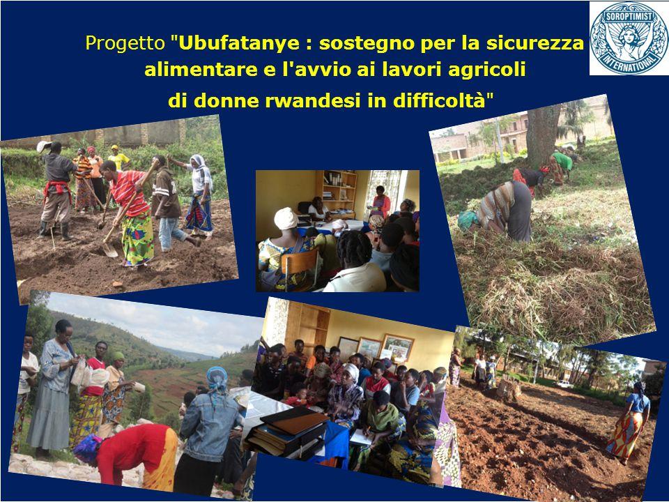 OBIETTIVI BIENNIO 2013-2015 Progetto Ubufatanye : sostegno per la sicurezza alimentare e l avvio ai lavori agricoli di donne rwandesi in difficoltà