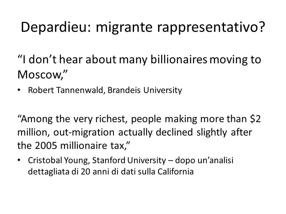 Depardieu: migrante rappresentativo.