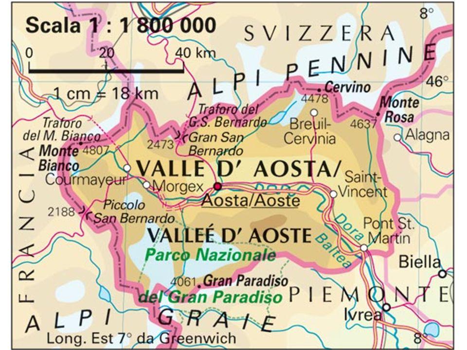 Valle d'Aosta – Popolazione esposta al rischio di frane Fonte: ISPRA