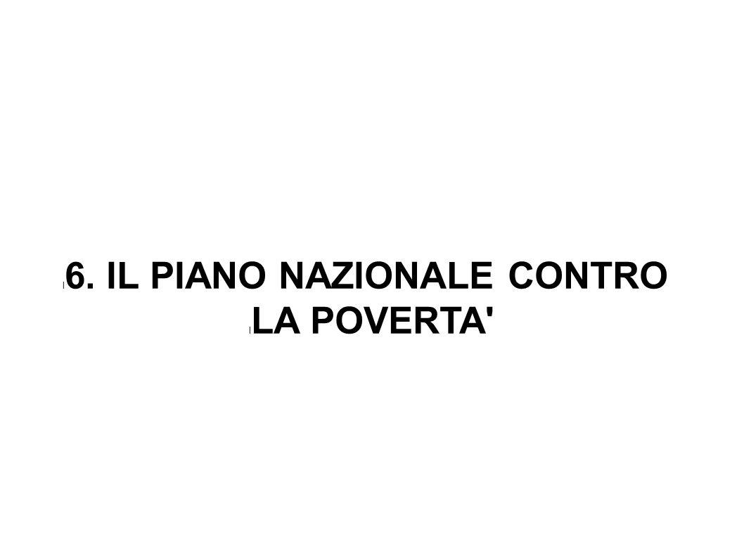 l 6. IL PIANO NAZIONALE CONTRO l LA POVERTA