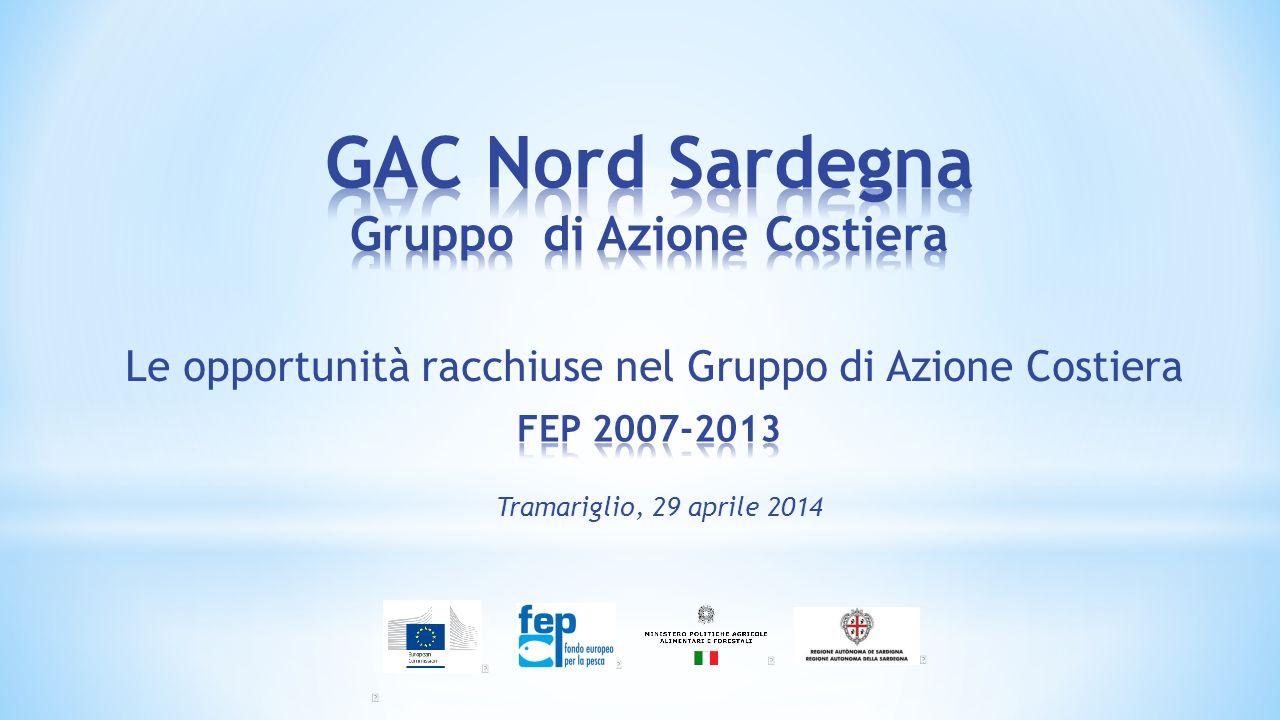  E' un'associazione riconosciuta che opera come organismo diritto pubblico  Si è costituito in seguito ad uno specifico bando della Regione Sardegna: FEP 2007- 2013 – Mis 4.1 Sostenibilità delle zone di pesca .