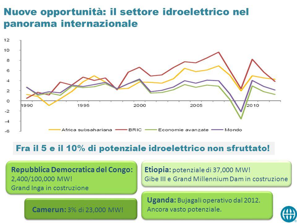 Nuove opportunità: il settore idroelettrico nel panorama internazionale Africa Sub-Sahariana: un'area che sta affrontando importanti trasformazioni e