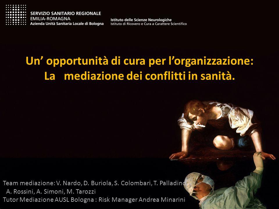 Mediazione civile Mediazione civile Uno strumento alternativo per la gestione del conflitto Mediazione in sanità Mediazione in sanità Mediazione civile obbligatoria DL 21.06.2013 n.