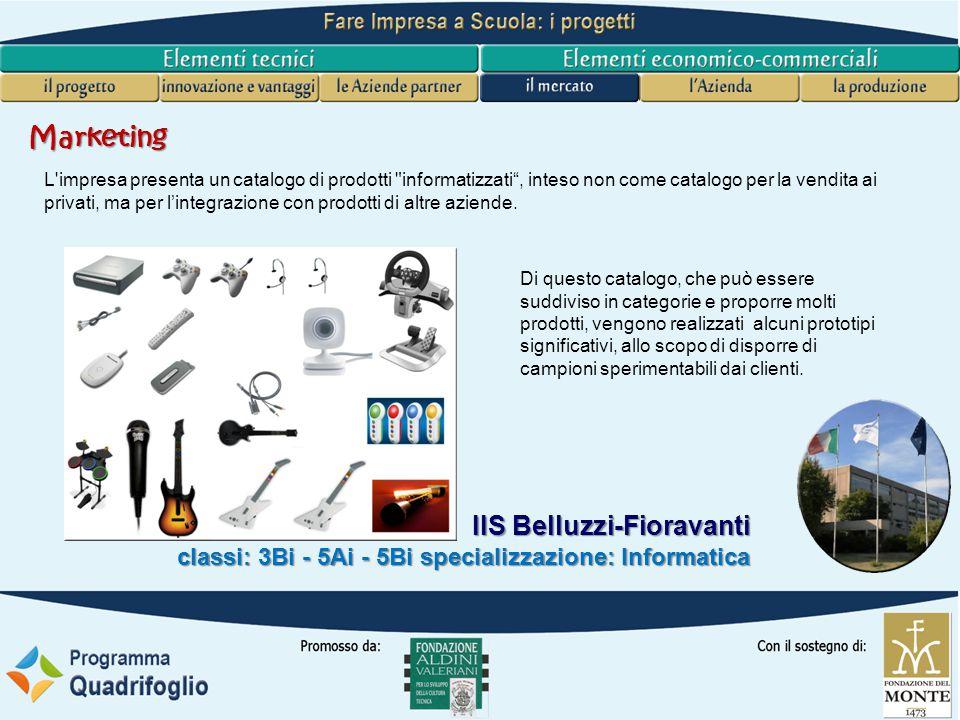 IIS Belluzzi-Fioravanti classi: 3Bi - 5Ai - 5Bi specializzazione: Informatica Azienda Aspetti imprenditoriali B2B Si intende costruire una azienda che svolga funzioni di supporto ad altre aziende, con l'obiettivo imprenditoriale di modellarla su una struttura B2B (Business To Business).