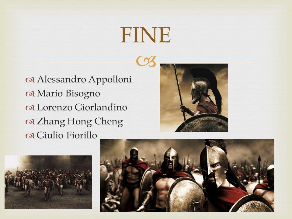   Alessandro Appolloni  Mario Bisogno  Lorenzo Giorlandino  Zhang Hong Cheng  Giulio Fiorillo FINE
