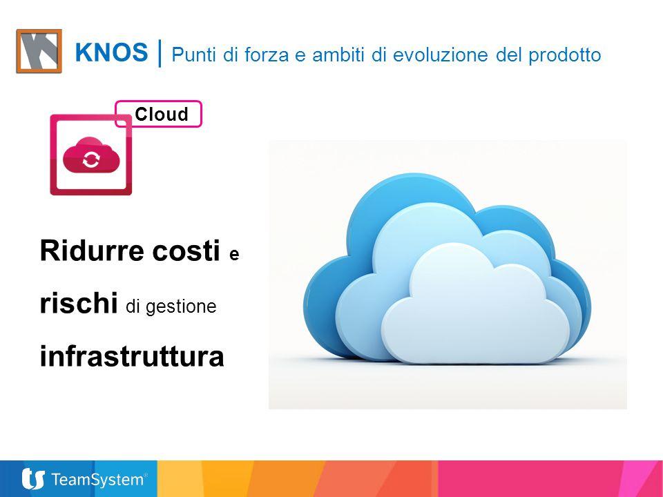 Cloud Ridurre costi e rischi di gestione infrastruttura KNOS | Punti di forza e ambiti di evoluzione del prodotto