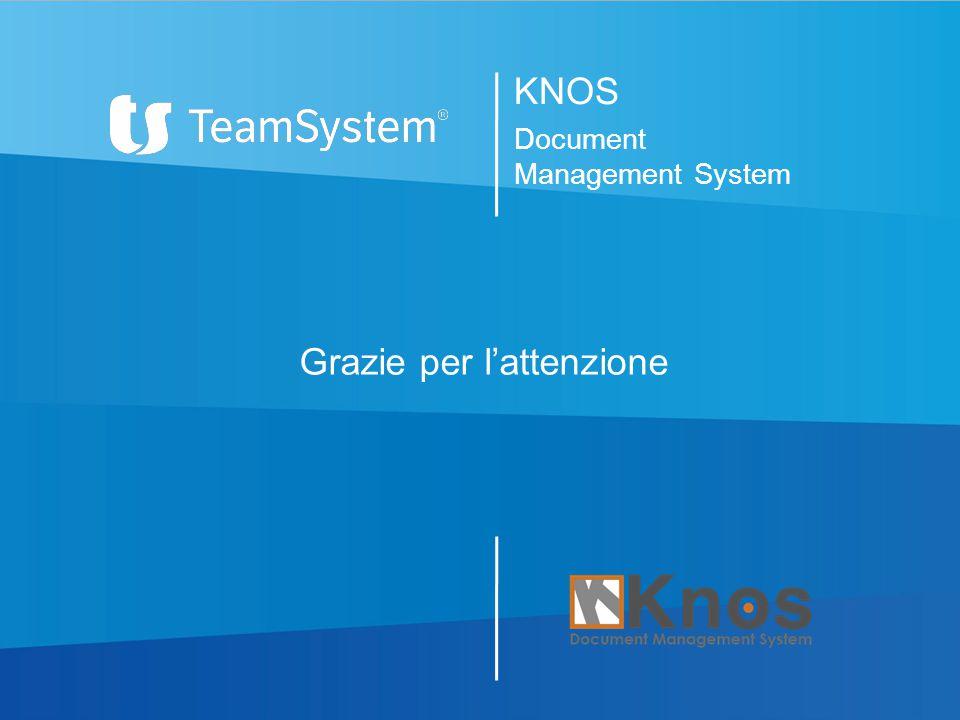 Grazie per l'attenzione KNOS Document Management System