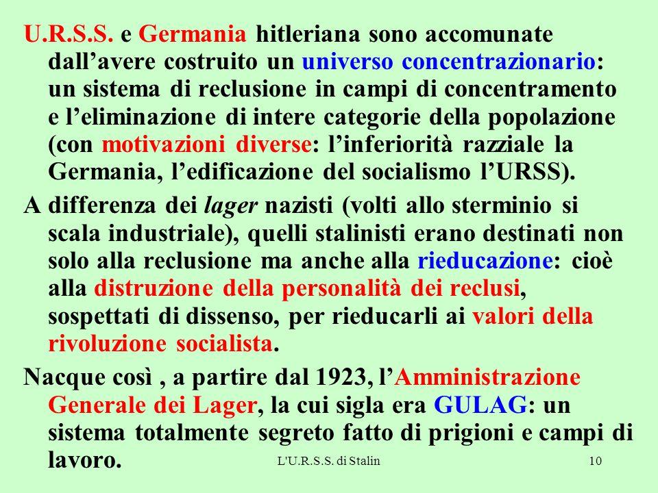 L U.R.S.S.di Stalin10 U.R.S.S.