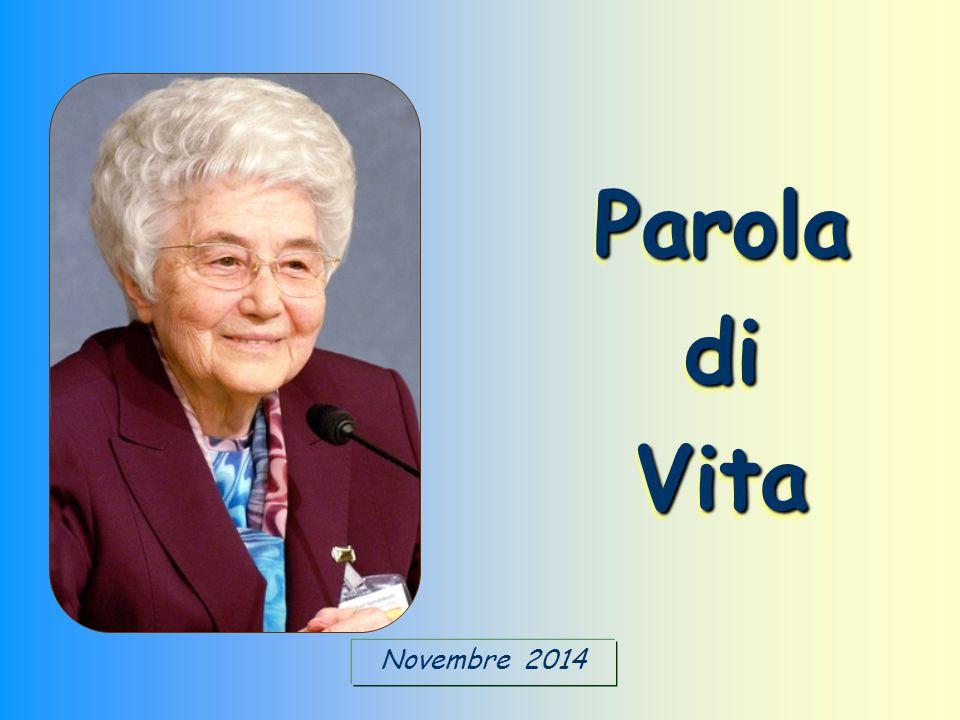 Novembre 2014 Parola di Vita