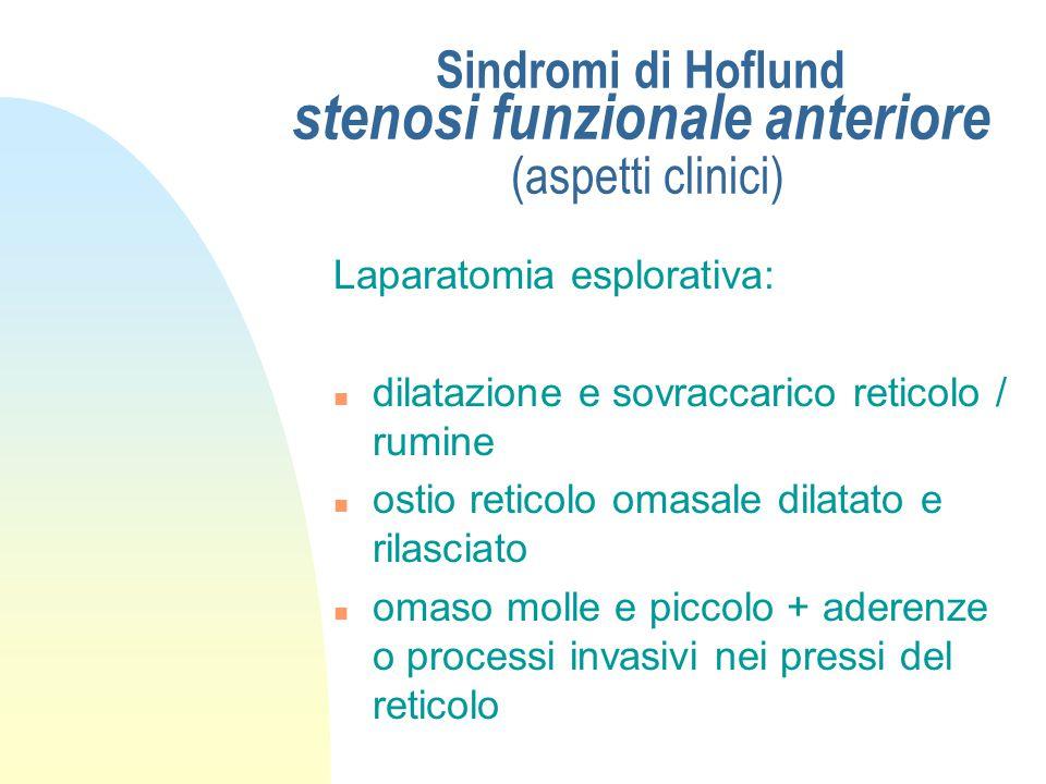 Sindromi di Hoflund aspetti clinici Prova dell'atropina: n rilievo ripetuto della frequenza cardiaca n 40 mg di atropina solfato sottocute n dopo 5' -