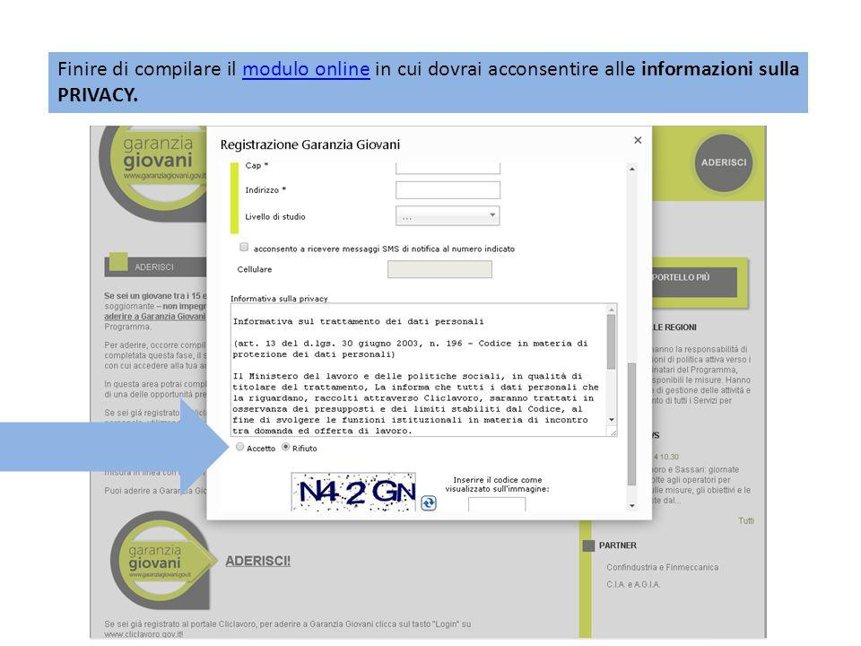 Non appena completata questa fase, il sistema invierà all indirizzo email indicato in fase di registrazione, le credenziali con cui accedere alla tua area personale del portale del Ministero del Lavoro Cliclavoro.