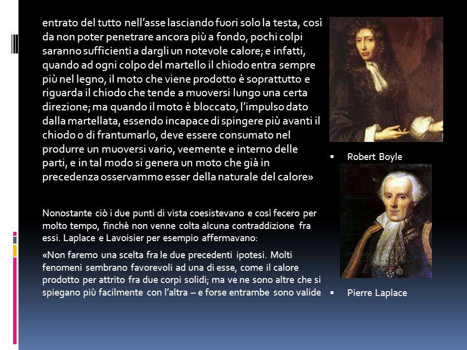 allo stesso tempo…» Laplace e Lavoisier, dopo Karl Wilcke (che nel 1772 propose di utilizzare come unità di misura del calore, il calore che avrebbe abbassato di 1°C un'unità di peso dell'acqua.