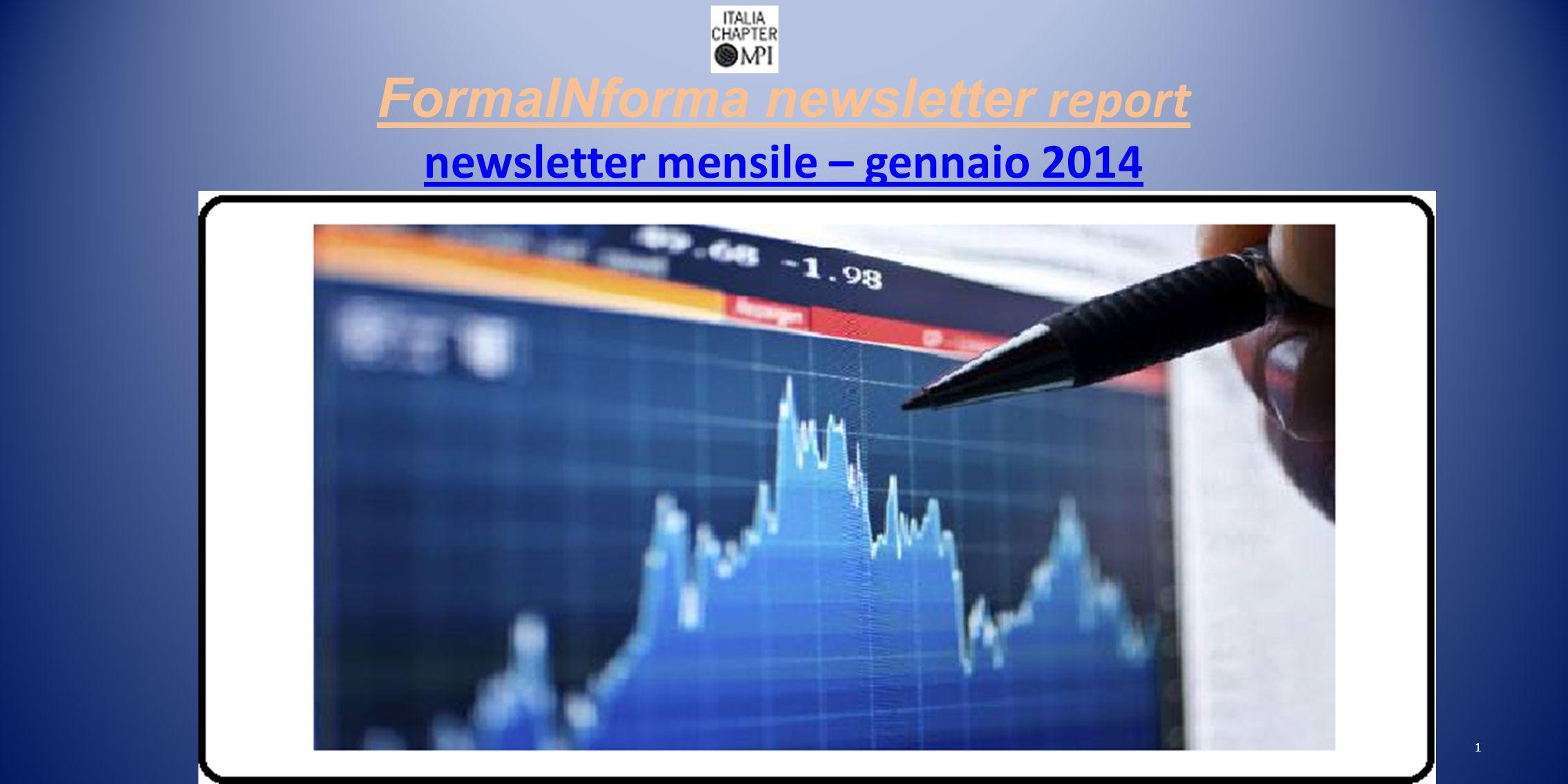 FormaINforma newsletter report newsletter mensile – gennaio 2014 newsletter mensile – gennaio 2014 1