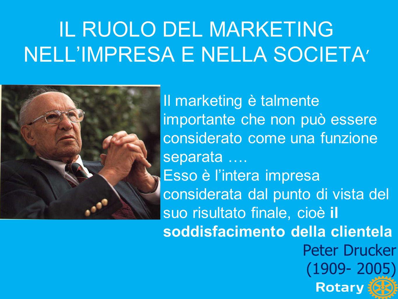 Il marketing è talmente importante che non può essere considerato come una funzione separata …. Esso è l'intera impresa considerata dal punto di vista