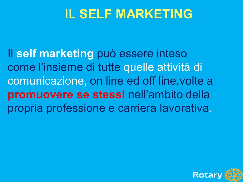 Il self marketing può essere inteso come l'insieme di tutte quelle attività di comunicazione, on line ed off line,volte a promuovere se stessi nell'am