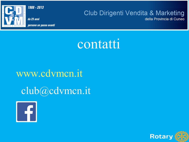 www.cdvmcn.it club@cdvmcn.it contatti