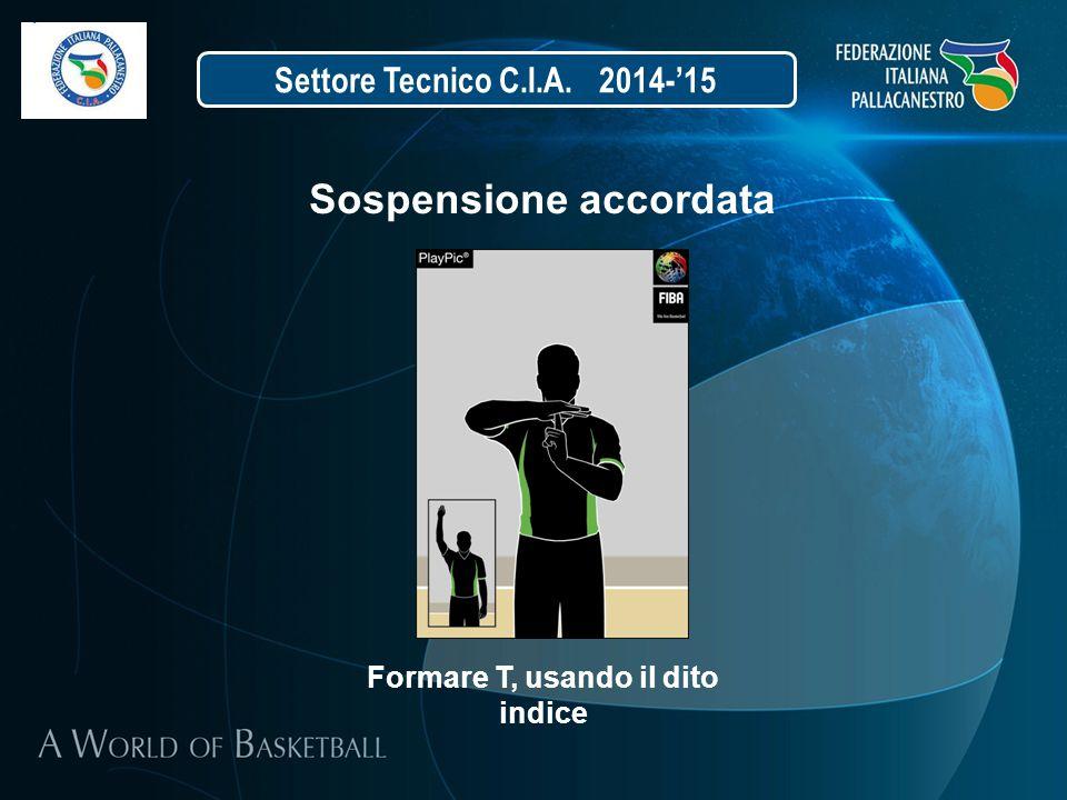Settore Tecnico C.I.A. 2014-'15 Sospensione accordata Formare T, usando il dito indice