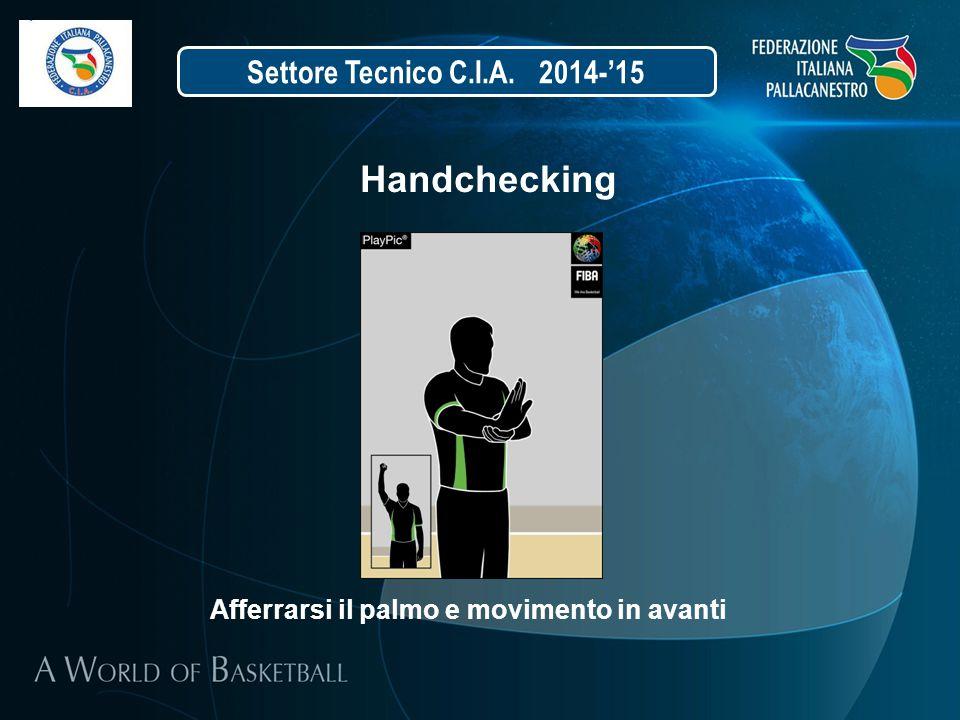 Settore Tecnico C.I.A. 2014-'15 Handchecking Afferrarsi il palmo e movimento in avanti