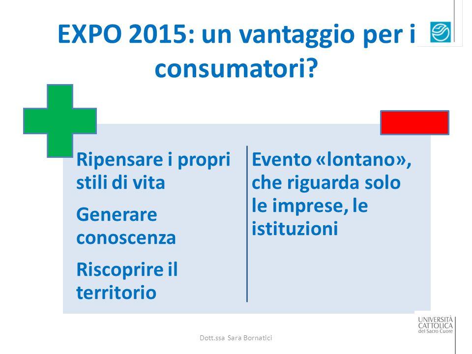 EXPO 2015: un vantaggio per i consumatori.