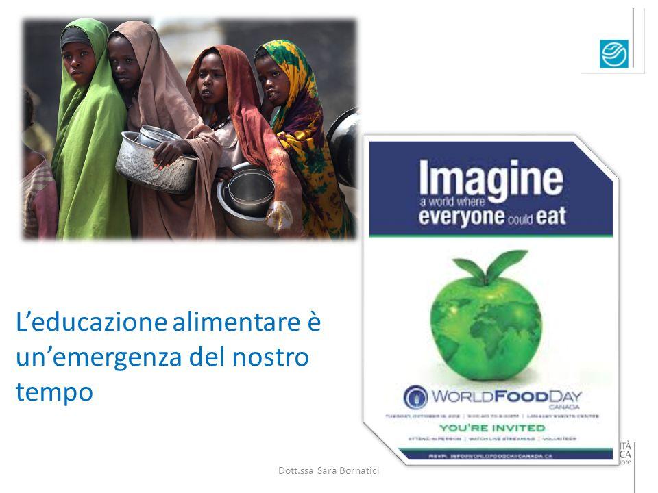 L'educazione alimentare è un'emergenza del nostro tempo Dott.ssa Sara Bornatici