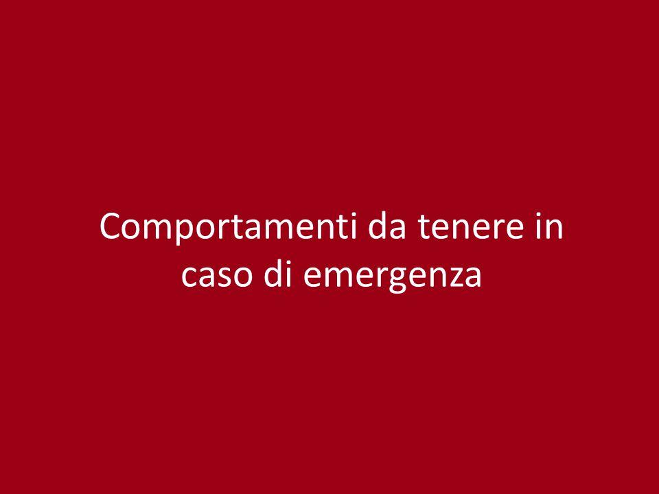 Comportamenti da tenere in caso di emergenza