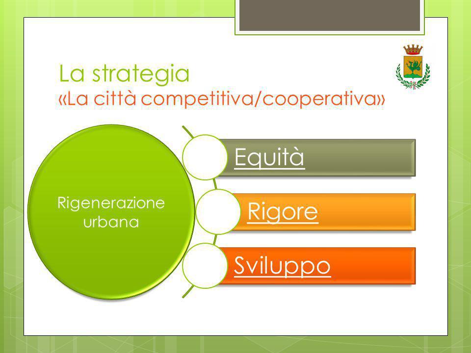 La strategia «La città competitiva/cooperativa» Equità Rigore Sviluppo Rigenerazione urbana
