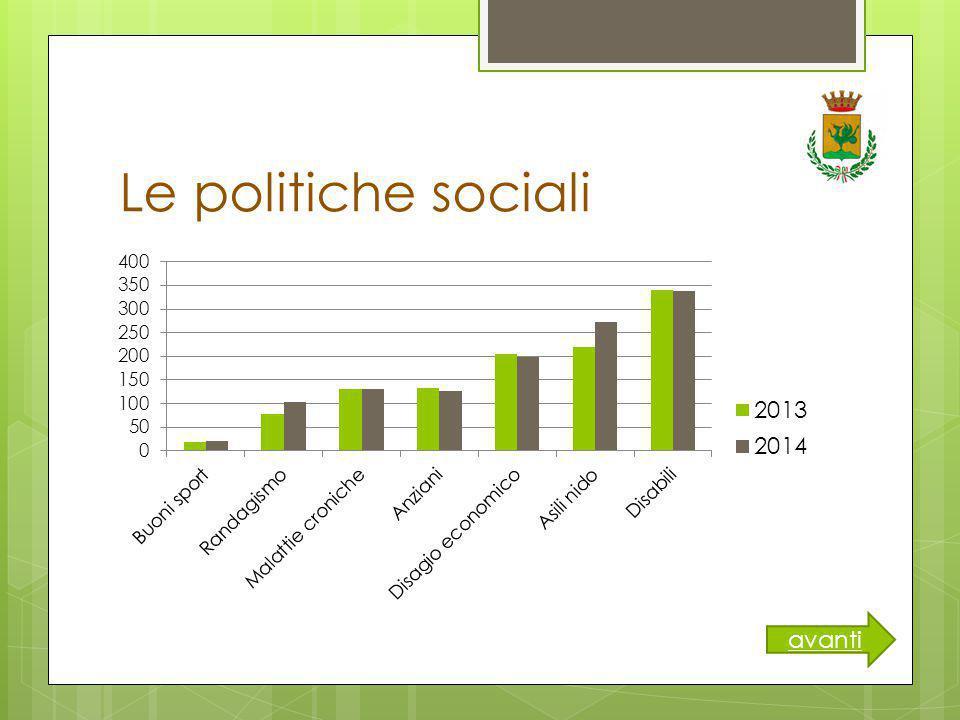 Le politiche sociali avanti