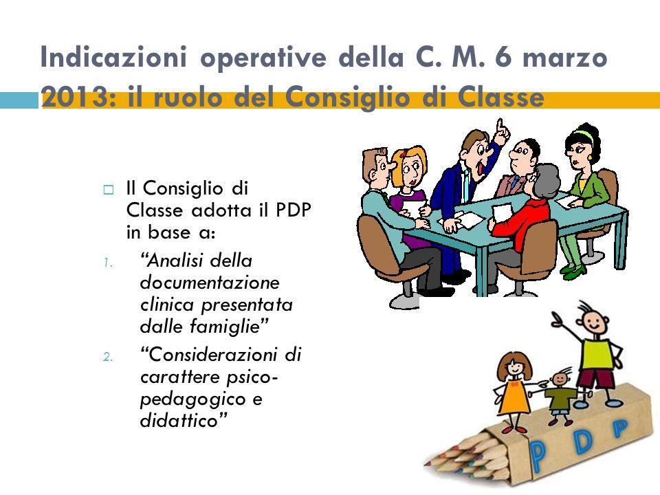 Indicazioni operative della C.M.