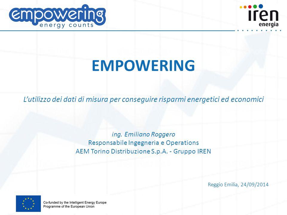 .....EMPOWERING L'utilizzo dei dati di misura per conseguire risparmi energetici ed economici ing.