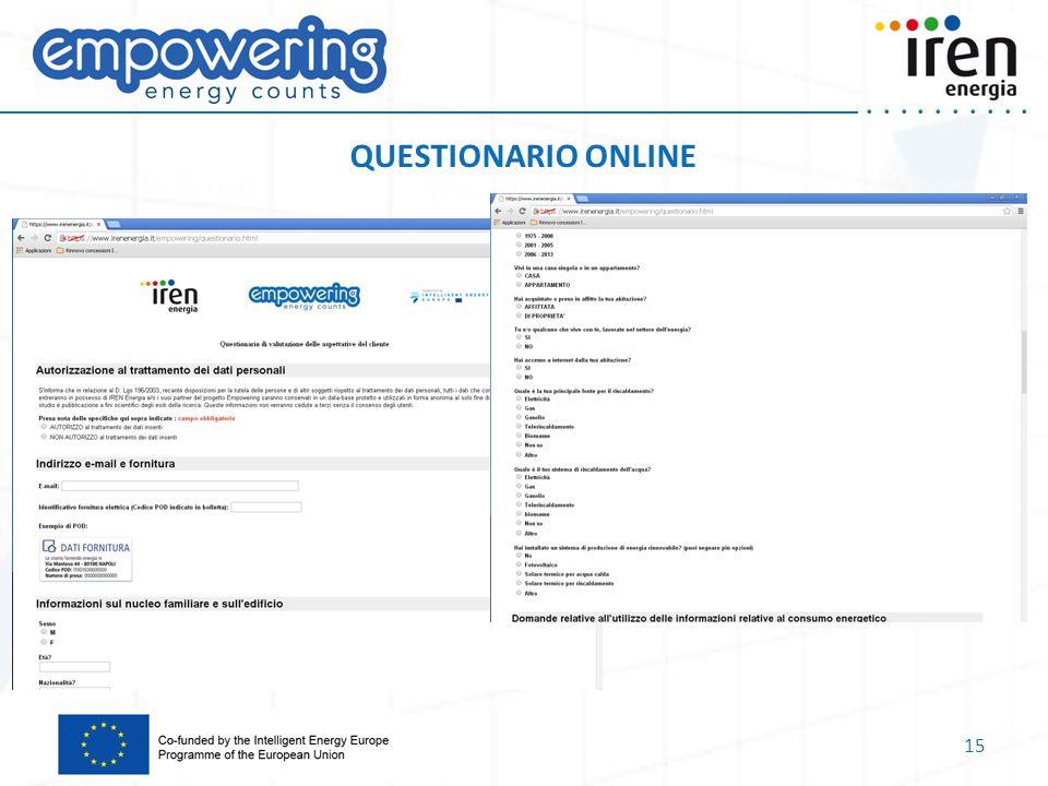 ..... QUESTIONARIO ONLINE 15