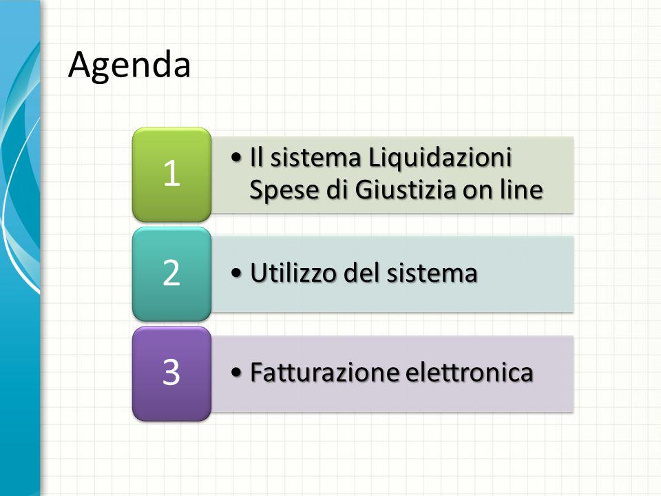 Il sistema Liquidazioni Spese di Giustizia on lineIl sistema Liquidazioni Spese di Giustizia on line 1 Utilizzo del sistemaUtilizzo del sistema 2 Fatt