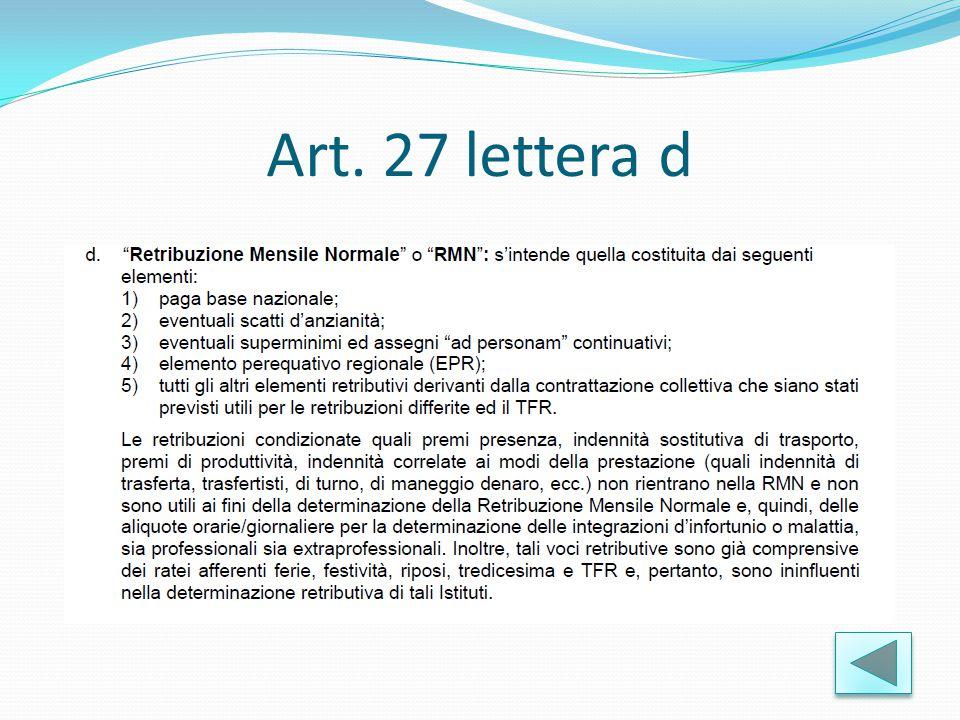 Art. 27 lettera d