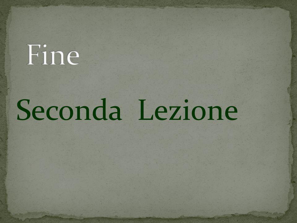 Seconda Lezione